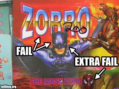 Fotos fail Fail-owned-zorro-fail